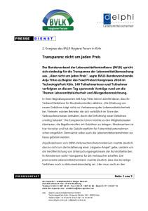 Pressemitteilung BVLK-Kongress Köln